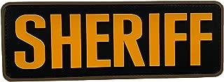 uuKen Large Yellow Sheriff Patch 8.5