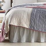 VHC Brands Hatteras Bed Skirt, Queen 60x80x16, Blue