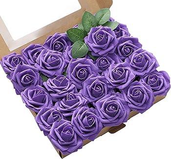 Oara 25pcs Artificial Flower Artificial Rose Flowers