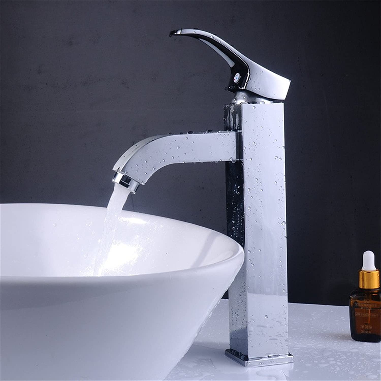 FHLYCF Basin faucet, basin head, single hole hot and cold faucet, all copper valve body, bathroom faucet