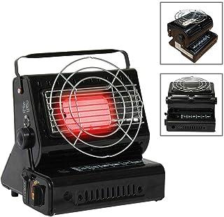 Termoventilador Calefactor de camping portátil doble Utilidad Gas Butano calefactor Termoventilador Gas Calefacción para camping excursión