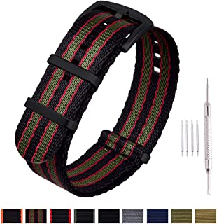 Ritche NATO Watch Strap with Heavy Buckle 18mm 20mm 22mm...