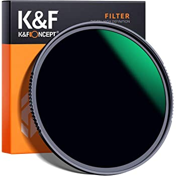 K&F Concept 49mm ND1000 (10 Stop) ND Lens Filter, Fixed Neutral Density Filter HD 18 Layer Super Slim Multi-Coated Glass Nano-X MRC Series for Camera Lens