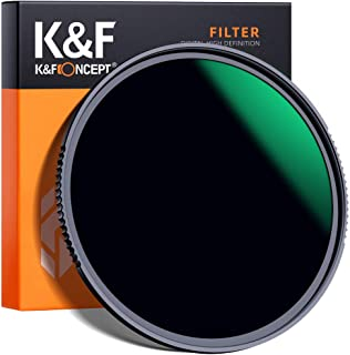 K&F Concept 58MM Neutral Density Lens Filter 10 Stops ND 1000 Filter HD 18 Layer Neutral Grey ND Lens Filter with Multi-Re...