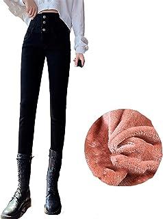LBBL Jeans Cintura Alta, Forro Polar Mujer, Pantalones Push Up Invierno Elásticos Pantalones Mezclilla Terciopelo Otoño De...