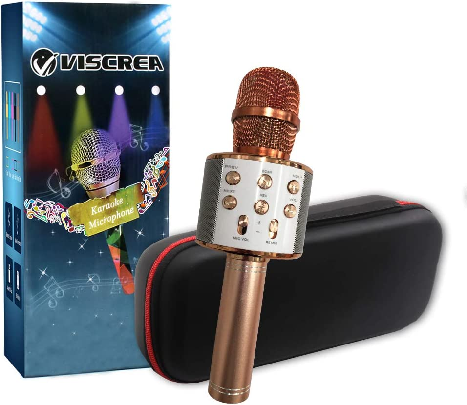 famous VISCREA Karaoke Microphone for Portable Girls Over item handling ☆ Wireless Bluetooth