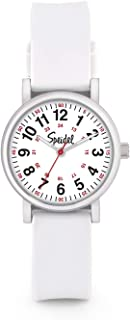 Women's Scrub Petite Watch for Medical Professionals - Easy to Read Small Face, Luminous Hands, Silicone Band, Second Hand, Military Time for Nurses, Doctors,Students in Scrub Matching Colors