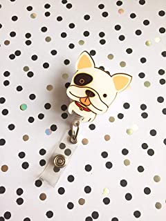 Cute Adorable Sweet Dog Puppy Decorated Retractable Non Twist-able Badge Reel ID Holder with Clip Backing