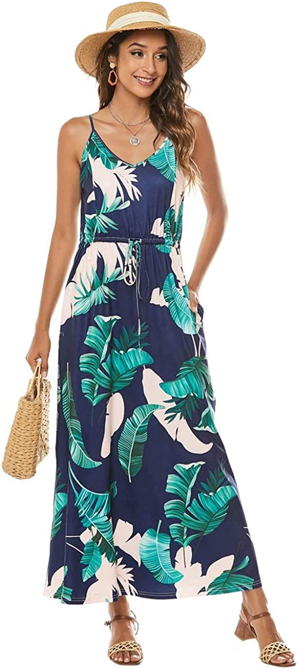 LIVECLOTH Women's Strap V-Neck Drawstring Waist Ma Casual Floral Regular Max 54% OFF store