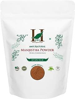 100% Pure Natural Organically Grown Manjistha Powder (227g / (1/2 lb) / 8 ounces)
