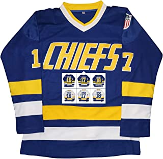 Kobejersey Hanson Brothers Jersey,Charlestown Chiefs 16,17,18 Slap Shot Ice Hockey Movie Jersey