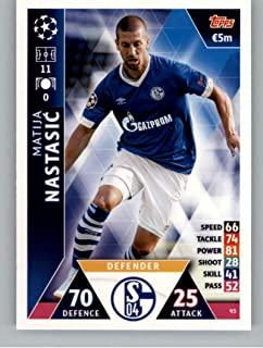 2018-19 Topps UEFA Champions League Match Attax #93 Matija Nastasic FC Schalke 04 Soccer Trading Card