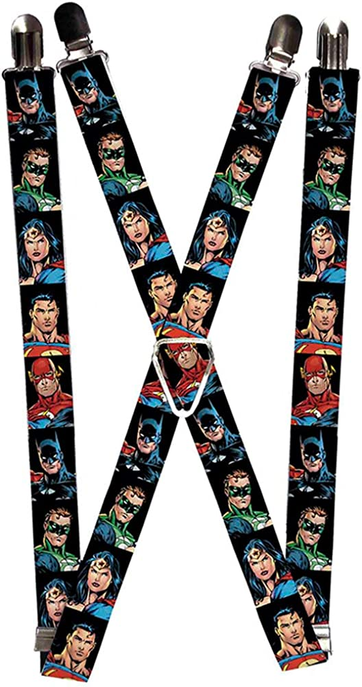 Buckle-Down Suspenders-Justice League Elite Forces Superheroes