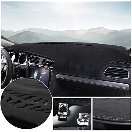 Coverking Custom Fit Dashcovers for Select Ford Fusion Models Black Poly Carpet
