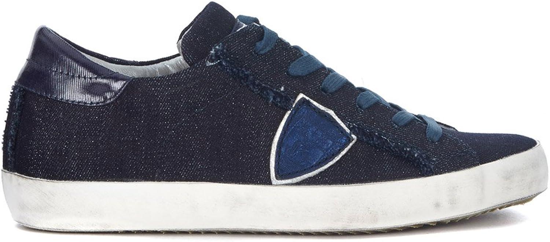 PHILIPPE MODEL Woman's Paris bluee Denim Sneaker
