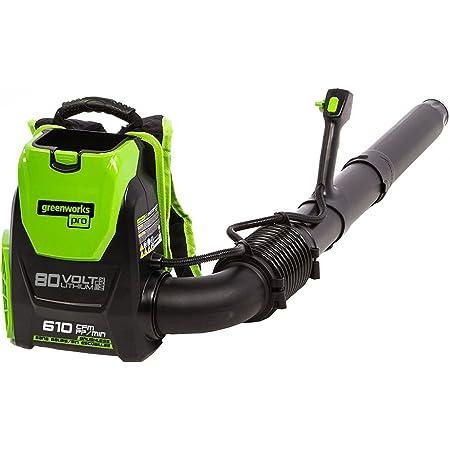 Greenworks Pro 80V (145 MPH / 580 CFM) Brushless Cordless Backpack Leaf Blower, Tool Only BPB80L00
