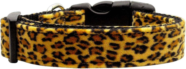 Dog   Cat   Pet Charms Animal Print Nylon Collars Leopard Large