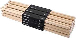 Suwimut 12 Pairs 7A Drum Sticks, Classic Maple Wood Drumsticks for Kids and Beginners, Musical Instrument Percussion Accessories