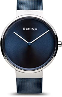 BERING Time 14539-307 Classic Collection Watch with Mesh Band and Scratch Resistant Sapphire Crystal. Designed in Denmark.