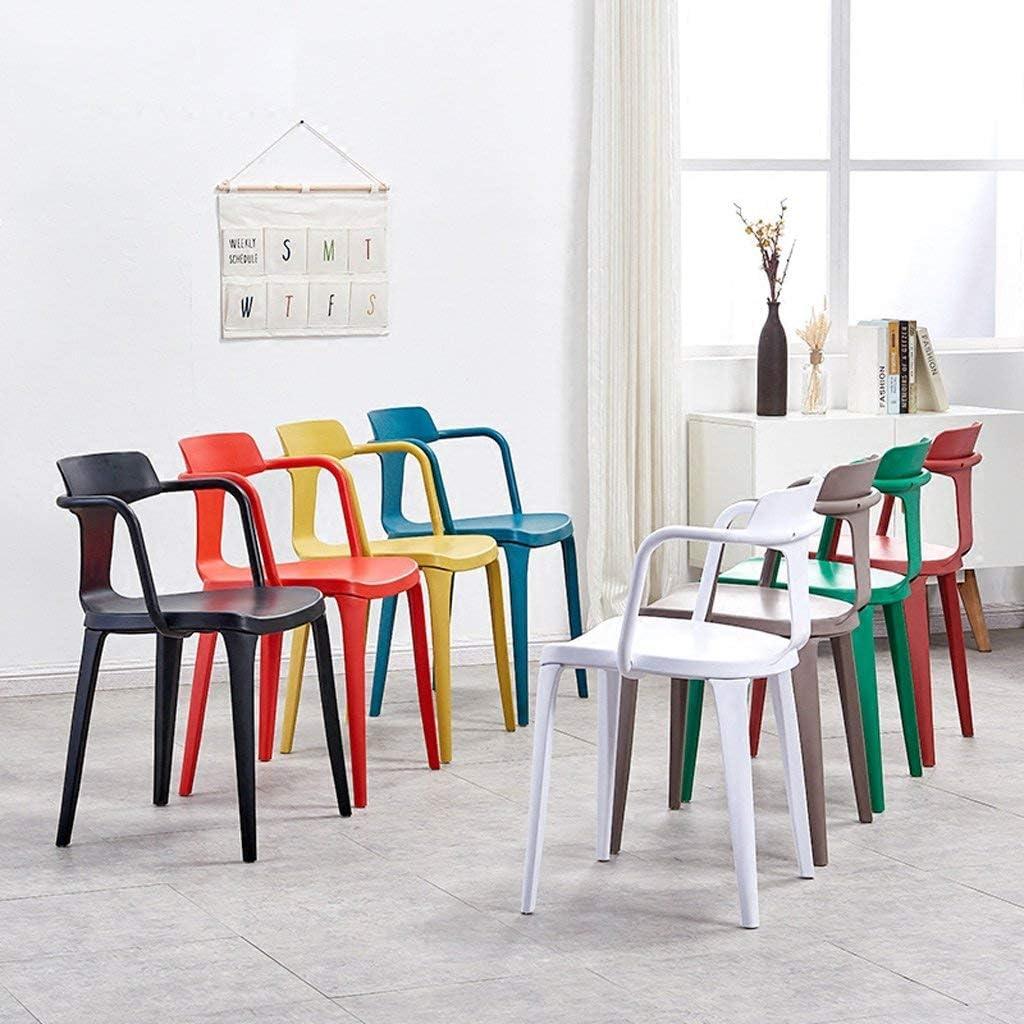 GQQ Chaise de Bureau, Chaise de Loisirs Nordique Restaurant Chaise Paresseuse Minimaliste Moderne Chaise de Bureau de Mode Blanche Chaise de Tabouret Arrière,Marron Rouge