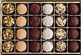 Maya's Brigadeiro Brazilian Sweets Premium Gift Box, Truffle Assortment, 24 Pieces, Chocolate Salted Pistachio, Sweet Milk, Classic Chocolate, Coconut, Chocolate Honey Almond, Coffee Dark Chocolate