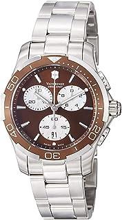 ساعة يد نسائية كوارتز من VICTORINOX عرض تناظري وسوار من الفولاذ المقاوم للصدأ 241502