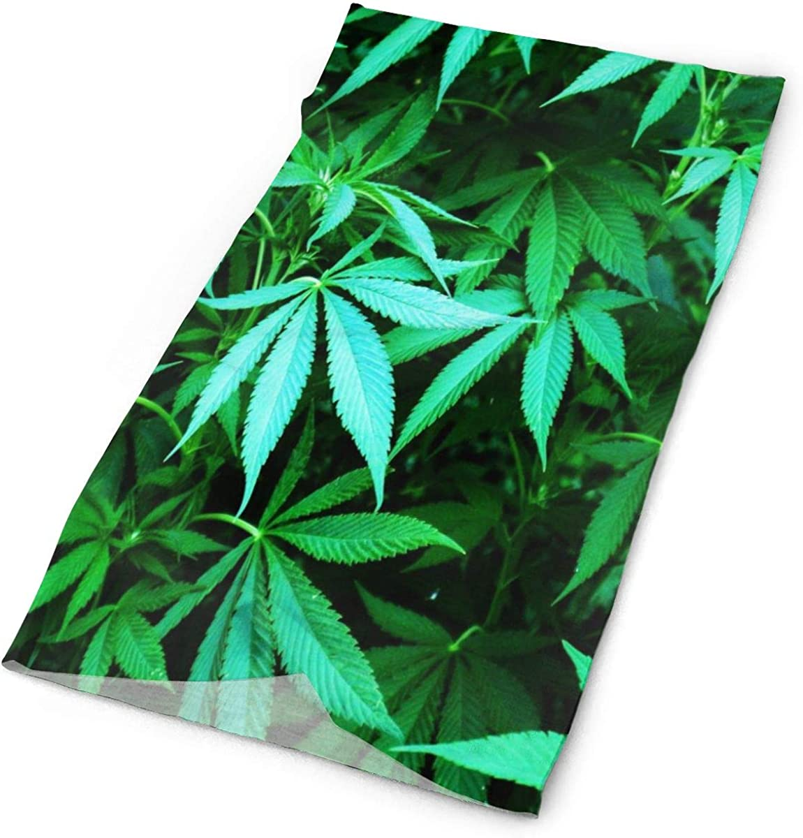 Love Lovely Bright Green Cannabis Headband Womens Bandana Mens Balaclava,Neck Warmer,Face Mask,Helmet Liner Facemask