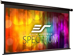Elite Screens Spectrum Electric Motorized Projector Screen with Multi Aspect Ratio Function Max Size 100-inch Diag 16:9 to 95-inch Diag 2.35:1, Home Theater 8K/4K Ultra HD Ready Projection, ELECTRIC100H