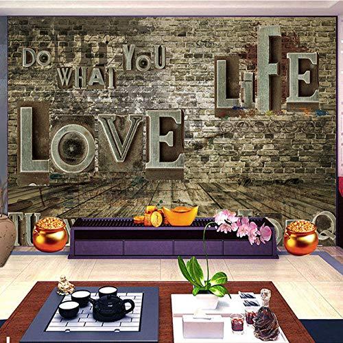 Abihua Wandbilder Benutzerdefinierte 3D Stereoskopische Foto Wandbild Tapete Retro Backstein Pile Wand Wohnzimmer Sofa Hintergrund Wandbild Wand Heimwerker 480Cm X 290Cm