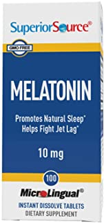 Superior Source Melatonin 10mg with Chamomile Instant Dissolve Tablets - Non Addictive Sleep Aid - Sublingual Melatonin - ...