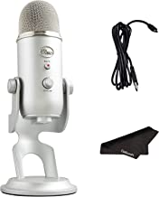 Newest Blue Yeti USB Microphone with 4 Pickup Patterns, 3 Condenser Capsules, Mic Gain Control & Adjustable Stand for Gami...