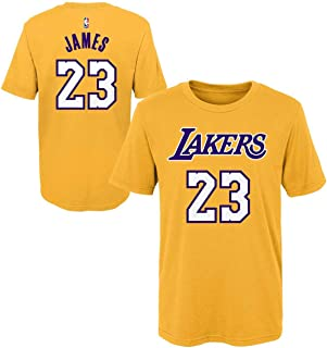 Outerstuff Lebron James Los Angeles Lakers #23 Youth Player Name & Number T-Shirt Gold