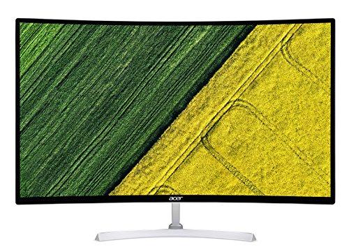 Acer EB321QURwidp 31.5 Inch WQHD Curved Monitor, White (TN Panel, 1 ms, DP, HDMI, DVI)