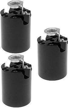 Keyless Phenolic Bakelite ~ E26 MEDIUM BASE ~ Pony Cleat Socket