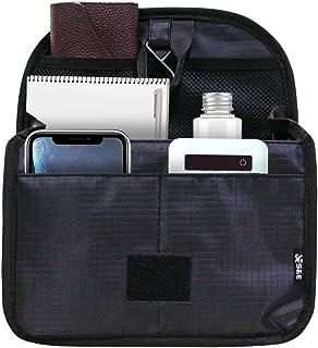 S&E バッグインバッグ リュックインバッグ a4 軽量 大容量 人気 縦型 収納 持ち運び フック付 自立 10ポケット ビジネス 通勤 オフィス お買いもの メンズ レディース