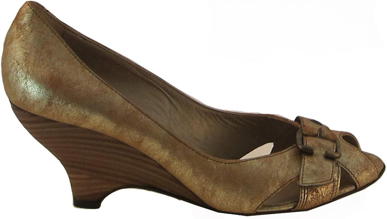 Janet&Janet Women's Italian 7409 Leather Peep Toe shoes