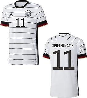 adidas DFB Deutschland Trikot Home EM 2020 Weiss mit Individualname und Individualnummer in Originalschrift