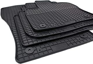 PETEX 82210 Rubber Mats Suitable for Tarraco from 43497 Black Set of 4