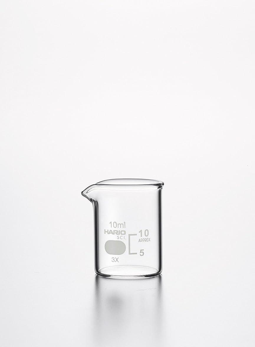 放散する労働アメリカHARIO(ハリオ) ビーカー 目安目盛付 10mL 010020-1071A バラ