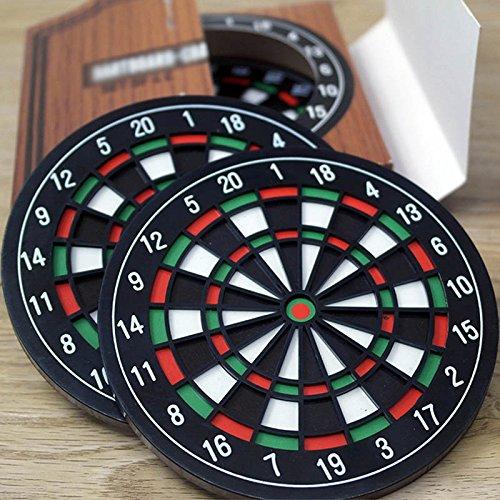 ASOSMOS Dartscheibe Untersetzer - langlebig und farbenfrohes Design Bar Darts Coaster Tischset