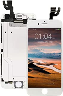 Screen Replacement for iPhone 6 White, Fully Pre-Assembled LCD Display and Touch Screen Digitizer Replacement with Proximity Sensor, Earspeaker and Front Camera, Repair Tools and Screen Protector