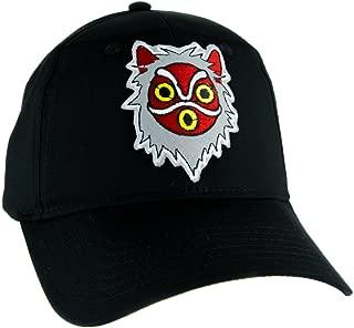Princess Mononoke San Wolf Mask Hat Baseball Cap Alternative Anime Clothing Black