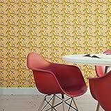 Edle Blüten Tapete 'Blooming Magnolia' mit blühender Magnolie in gelb angepasst an Schöner Wohnen Wandfarben- Vlies Tapete Blumen - üppige florale Wanddeko - GMM Design Tapete - Wandtapete - Wand Dekoration für edle Wohnakzente (Höhe 3m Breite 46,5cm)