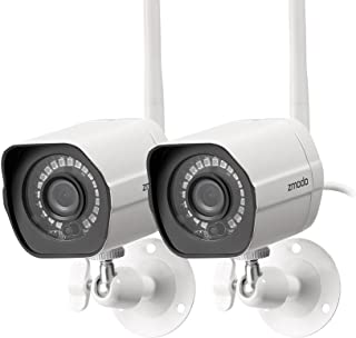 Zmodo Outdoor Security Camera Wireless (2 Pack), 1080p Full HD Home Security Camera System, Works with Alexa and Google As...
