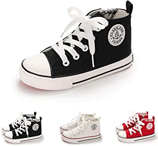BENHERO Kids Boys Girls Canvas High Top Gym Shoes Trainers Sneakers(Toddler/Little Kid/Big Kid)