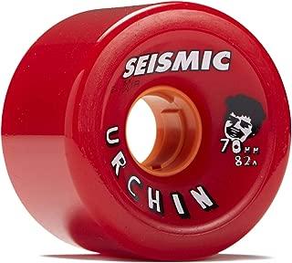 Seismic Urchin Longboard Wheels - 70mm 82a Red