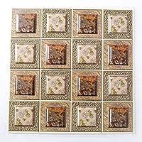 壁紙の自己接着性タイルの自己接着剤3Dタイルのステッカーと壁紙の耐熱防水スプラッシュプルーキングキッチンバスルーム5 PCS (Color : B, Size : 30X30CM)