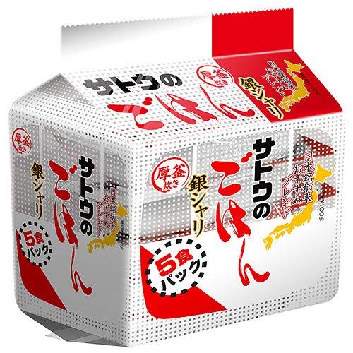 サトウ食品 サトウのごはん 銀シャリ 5食パック(200g×5食)×8袋入×(2ケース)
