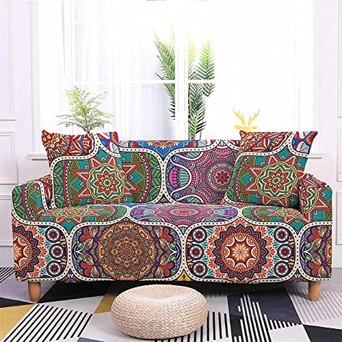 Fundas de sofá elásticas para sala de estar Todo incluido Funda de sofá antideslizante Strech Forma de L Esquina Toalla para sofá Funda protectora para sofá Funda para sofá-Color 2_4 plazas 235-300 cm
