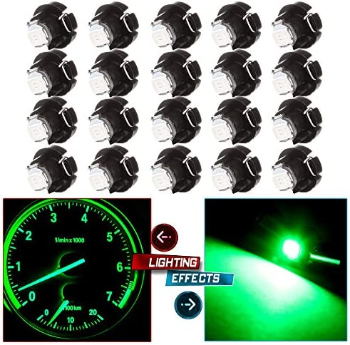 cciyu 20 Pack White 2835 SMD T3 Neo Wedge 1 LEDA C Climate Control Lights New 8mm US Replacement product image